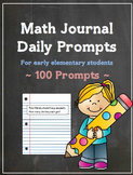 Math Journal Daily Prompts - Set of 100
