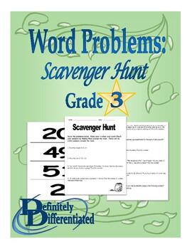 Word Problems - Differentiated Scavenger Hunt