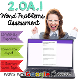Word Problems Digital Assessment - Google Forms