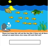 Word Problems- Division - Smart Board Interactive -