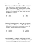 Word Problems: Division with Remainders
