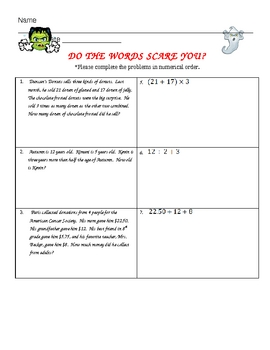 Word Problems: Do the Words Scare You?