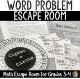 Word Problems Escape Room: Grades 3-4