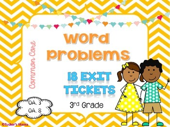 Word Problems Exit Tickets