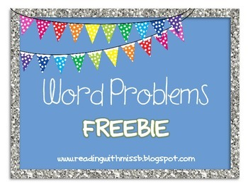 Word Problems FREEBIE