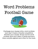 Word Problems Football Game