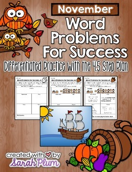 Word Problems For Success - November Sampler
