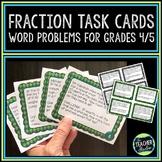Fraction Word Problems: Fraction Task Cards Grade 4/5