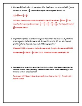 Word Problems: Fractions, Parts of a Whole, Conversions and Ratios