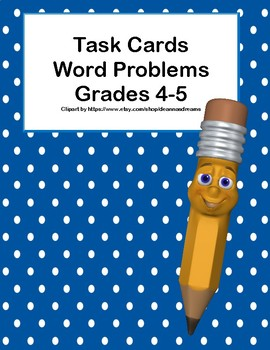 Word Problems - Grades 4-5- Task Cards