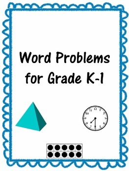 Word Problems Grades K and 1