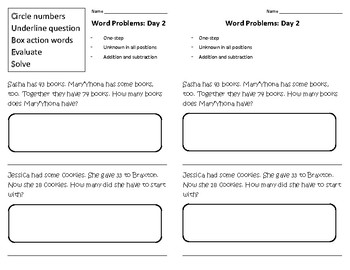 Word Problems, Guided Practice