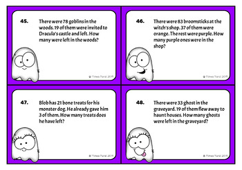 Word Problems -- Halloween Theme