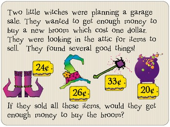 Word Problems (Halloween, Witches)