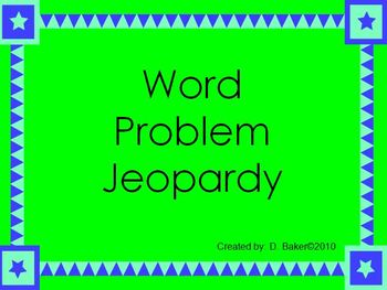 Word Problems I Power Point Presentation
