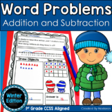 Addition and Subtraction Worksheets-Winter Word Problems