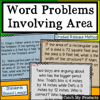 Word Problems Involving Area for Promethean Board (Intellectually Gifted)