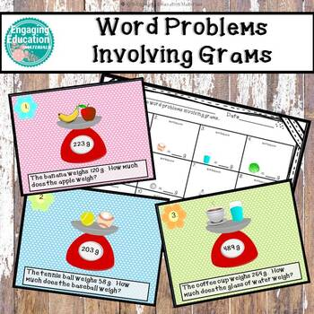 Word Problems Involving Grams Task Cards