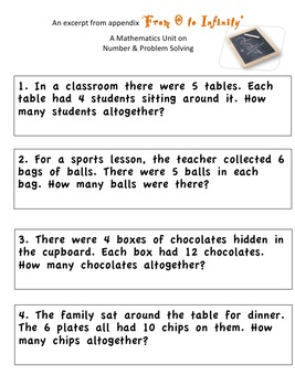 Word Problems Junior Primary