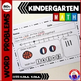 Word Problems: Kindergarten - Math Facts