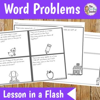Word Problems 1st Grade Math Lesson