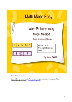 Word Problems Made Easy (6)- concept of age and years