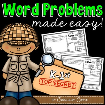 Word Problems Made Easy! Posters & Printables {K-1st}