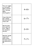 Word Problems Matching Cards