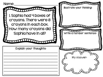 Word Problems Math Journals