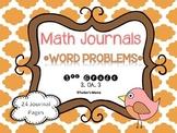 Word Problems Math Journals