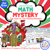 Word Problems-Math Mystery-Case of the Missing Reindeer Grade 2