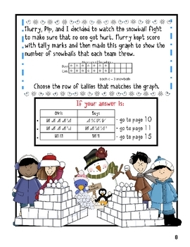 3rd Grade Word Problems - Math Mystery - Case of the Silly Snow Day