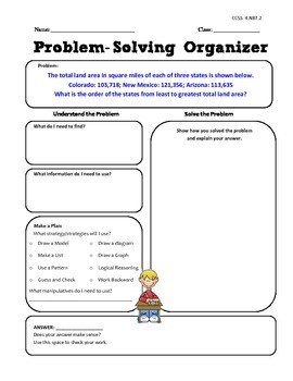 Math Word Problem Activities - FREE - Grade 4