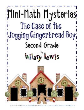 2nd Grade Word Problems - Mini-Math Mystery - Jogging Gingerbread Boy
