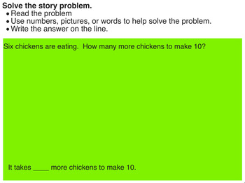 Word Problems:  Missing Addends