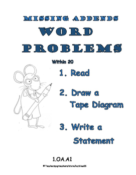 Word Problems: Missing Addends / Missing Parts: within 20 1.OA.A1