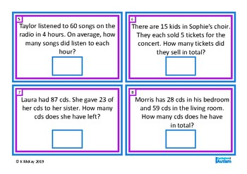 Word Problems Mixed Operations Autism Special Education