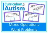 Word Problems Mixed Operations Autism Math Task Cards