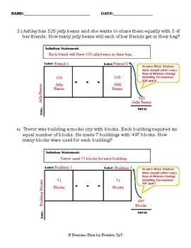 Word Problems: Model Drawing Practice