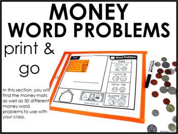 Word Problems Money Second Grade