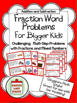 Word Problems (Multi-Step: Adding and Subtracting Fractions/Mixed Numbers)