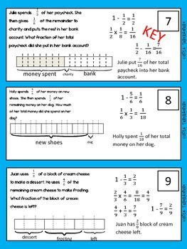 Word Problems (Multi-Step: Multiplying Fractions)