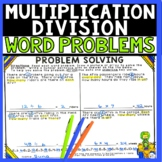 Word Problems Multiplication and Division Real World Problems