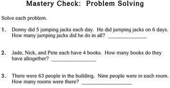 Word Problems, Multiply/Divide, 3rd grade - Individualized Math - worksheets