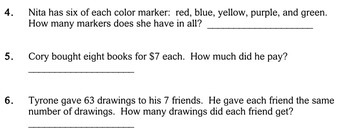 Word Problems, Multiply/Divide, 3rd grade - worksheets - Individualized Math