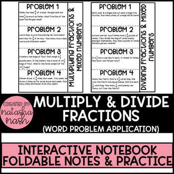 Word Problems: Multiplying & Dividing Fractions & Mixed Numbers