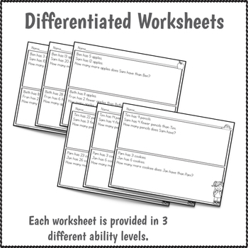Word Problems Worksheets and Activities