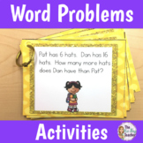 Word Problems Addition and Subtraction Worksheets and Activities