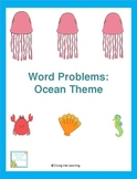Word Problems: Ocean Theme (First Grade)