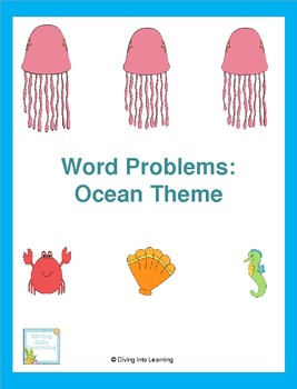 Word Problems: Ocean Theme (First Grade)